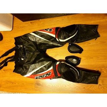 Spodnie motocyklowe IXS, skóra, r. XXL, slidery