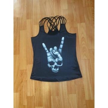 M. Top bluzka sportowa rock czaszka La Catrina