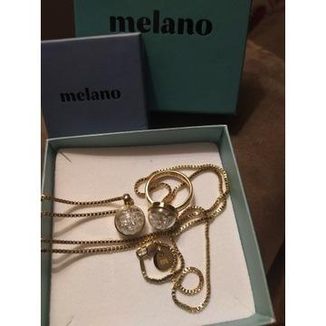 MelanO Globe komplet pierścionek kolia