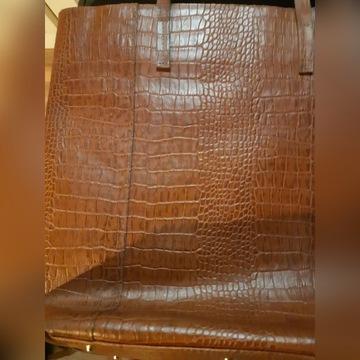 Gino Rossi skórzana  torebka shopper brąz