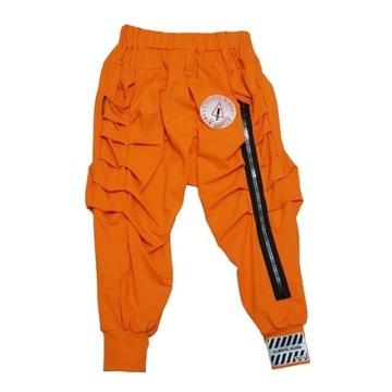 Minouu spodnie pomarańczowe baggy Lynda