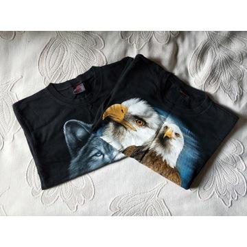 T-shirty z nadrukiem wilki i orły roz.S