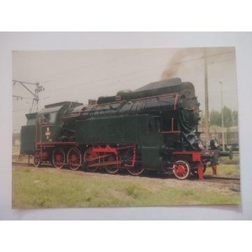 Pocztówka parowóz OKz32-2 pociąg