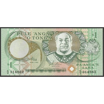 Tonga 1 paanga 1995 - stan bankowy UNC