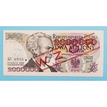 2000000 złotych z błędem WZÓR 1992r. Stan UNC
