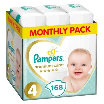 Pampers pieluchy Premium Care 4 Maxi (9-14 kg) 168