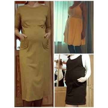 3 sukienki ciażowe. Zestaw 38