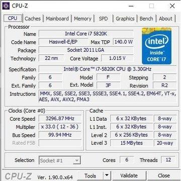 Procesor Intel i7-5820K 2011-3