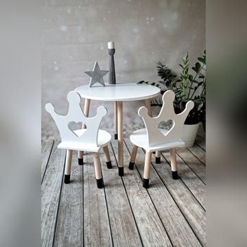 Meble dla dzieci, stolik i krzesełko korona,