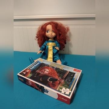 Lalka Merida Waleczna Disney store + puzzle