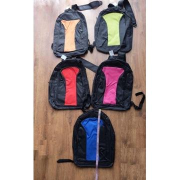 Plecak zwykły na wycieczke, 2 komory, rózne kolory