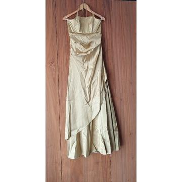 Suknia maxi, roz. S/M, złota