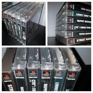 Gry PS1 Zestaw Kolekcja 8 kultowych wyścigówek