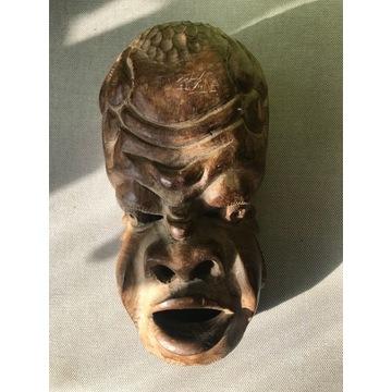 Maska afrykańska z litego drewna heban