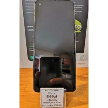 Motorola one V jak Nowa 4/128 GB +gratis