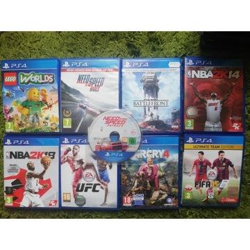 9 gier zestaw Lego / UFC / NFS ps4 playstation4