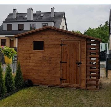 Domek narzedziowy 3m x 2m z drewutnia
