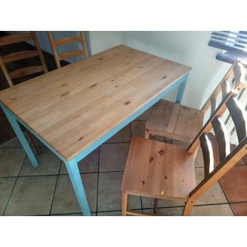 Stół z krzesłami - Ikea drewniany