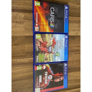 FIFA 20, Farming Simulator 17, Project Cars zestaw