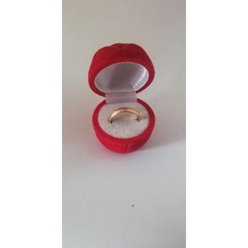 Złota obrączka 586, rozmiar 17, waga 3.50