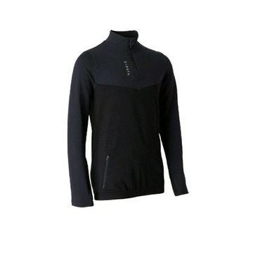 Bluza Kipsta T500 suwak czarna 113-122 cm 5-6 lat