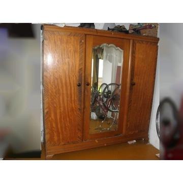stara szafa przedwojenna z lustrem 200x207 cm.