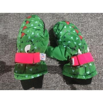 rękawiczki zimowe, ciepłe krokodylki dla 4-5 lat