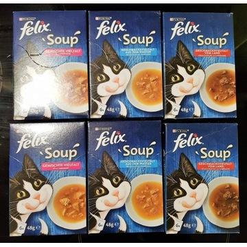 Super pakiet 36 zup Purina Felix Soup dla kotka!