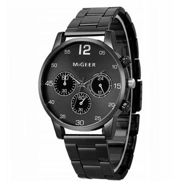 Zegarek męski w stylu retro czarny