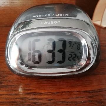 Zegarek biurkowy srebrny