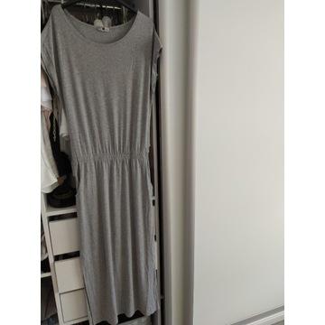 Sukienka z wiskozy krótki rękaw - rozmiar 36