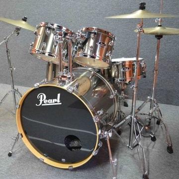 Perkusja Pearl Export - jak nowa, super brzmienie