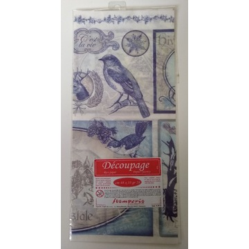 Papier ryżowy Stamperia 48x33 ptaki