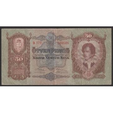 Węgry 50 pengo 1932 - D 172 - Petofi Sandor