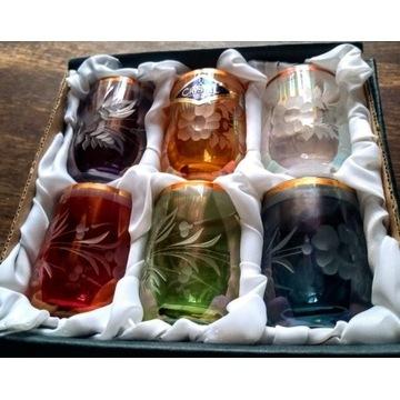 Kieliszki kryształowe kolorowe - bohemia crystal