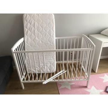 Łóżeczko Ikea Guliver z materacem