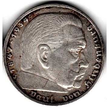 Trzecia Rzesza 5 marek, 1936   J