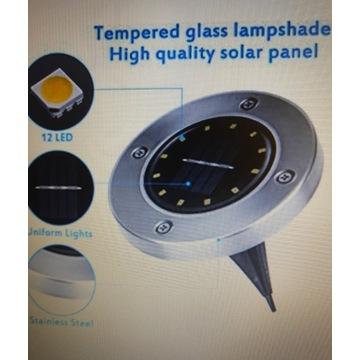 Lampa Solarna ogrodowa najazdowa 12 LED 8 sztuk