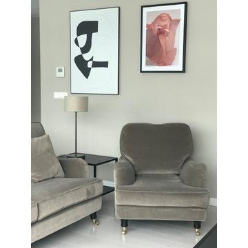 Zestaw wypoczynkowy ENGLESSON - sofa z dwoma fotel