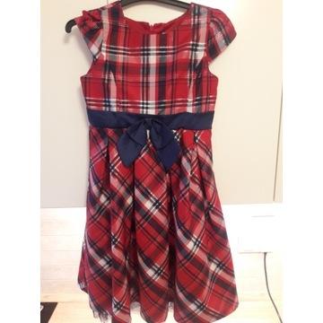 Elegancka, świąteczna sukienka 128 cm