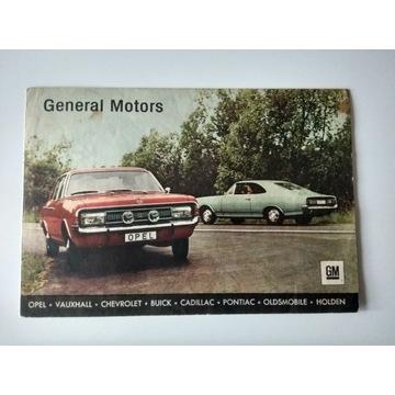 Prospekt General Motors - Opel Vauxhall UNIKAT