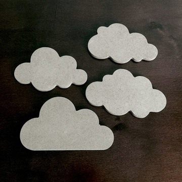 Drewniane chmurki dla dziecka 4 różne wzory