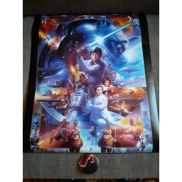 Plakat Pamiątkowy Gwiezdne Wojny