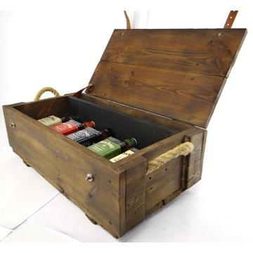 Skrzynka drewniana prezent na alkohol