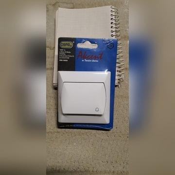 Przycisk łącznik dzwonek biały OSPEL ŁP-6A