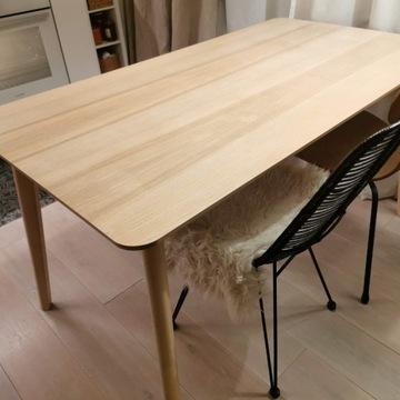 stół IKEA LISABO 140x78 cm okleina jesionowa