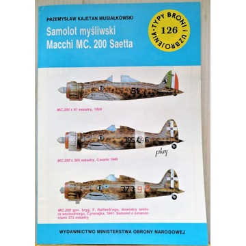 TBiU 126 Samolot myśliwski Macchi MC200 Saetta bdb
