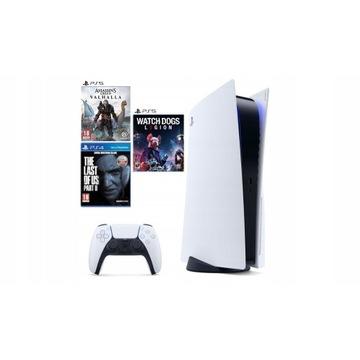 Sony Playstation 5 Blueray + Dualsence + 3 gry
