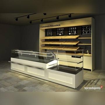Wyposażenie sklepu piekarnia witryna chłodnicza