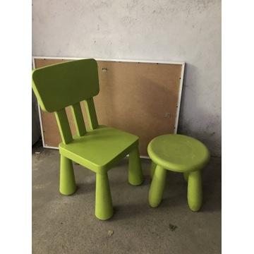 Krzesło + taboret IKEA MAMMUT